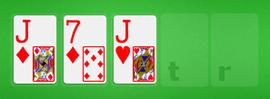 Jugar las tres primeras cartas de la mesa el Flop Texas Hold'em