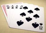 Dobles parejas, Jugando un flop barato con cartas mediocres